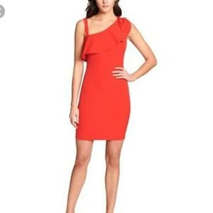Guess Red One Shoulder Mini Party Bodycon Dress